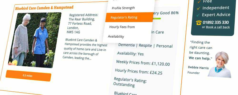 Bluebird Camden and Hampstead has an outstanding rating from the CQC