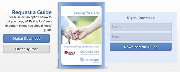 Eldercares' digital guide to paying for elderly care