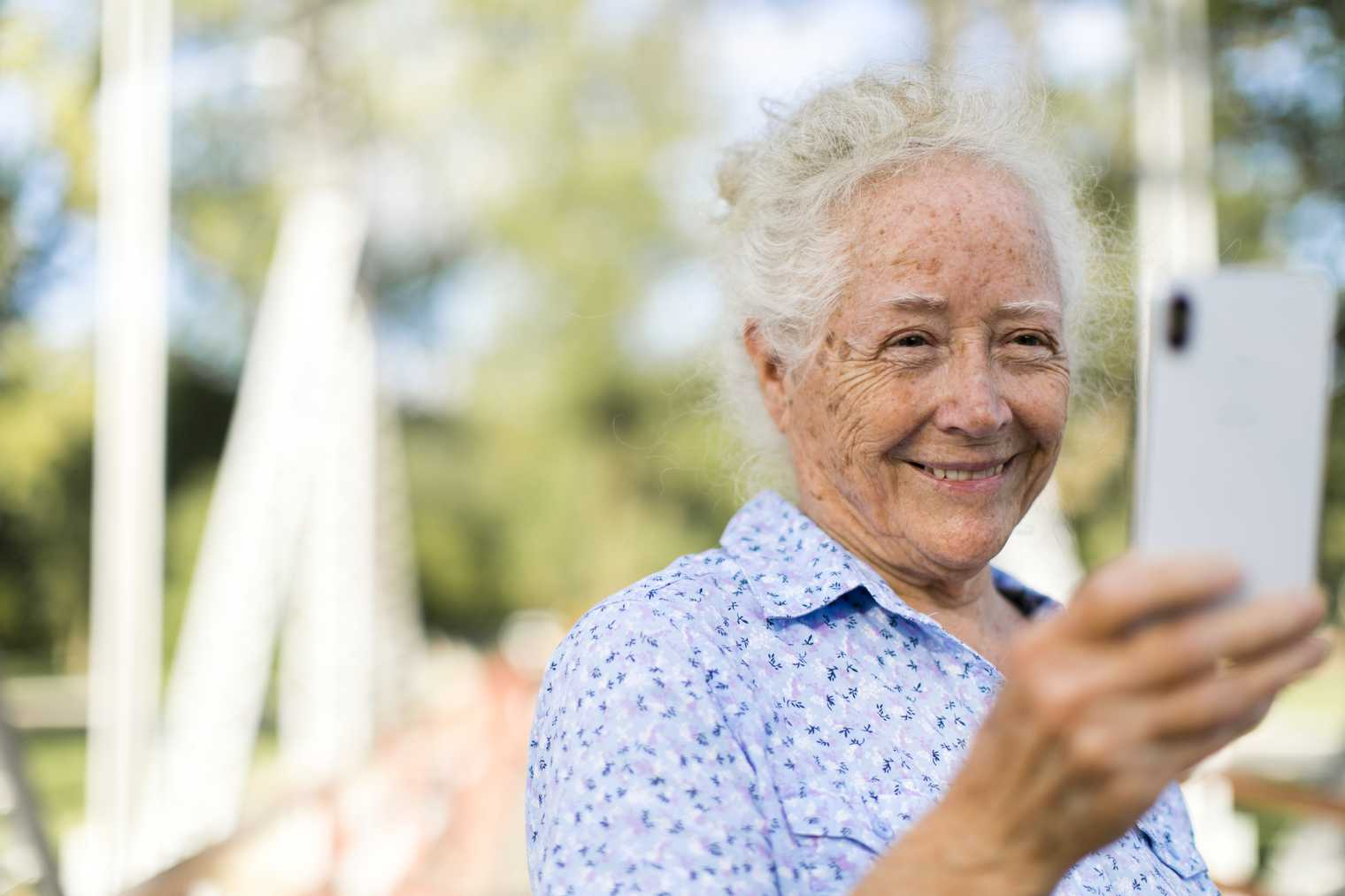 Many of the older generation are tech-savvy