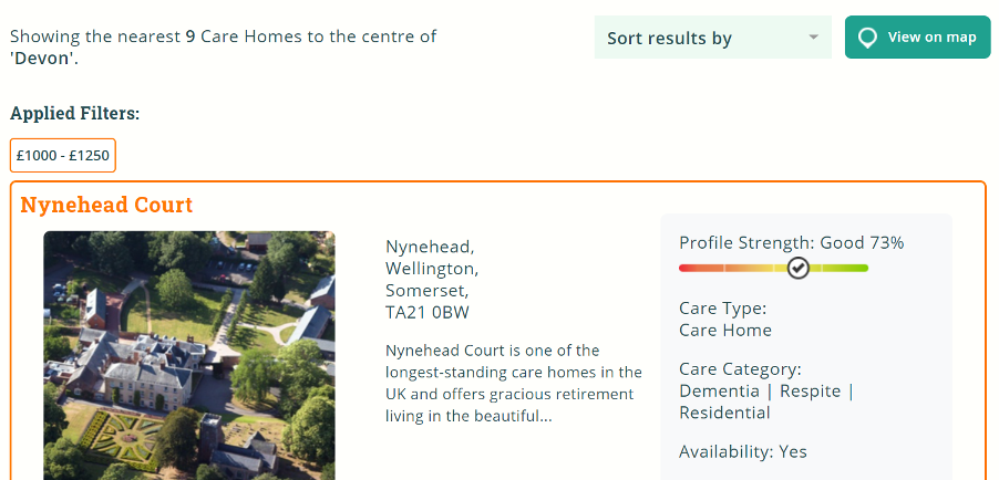 Nynehead Court care home comes out top on Autumna