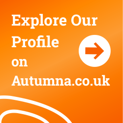 Explore our profile on Autumna badge - 250 x 250px