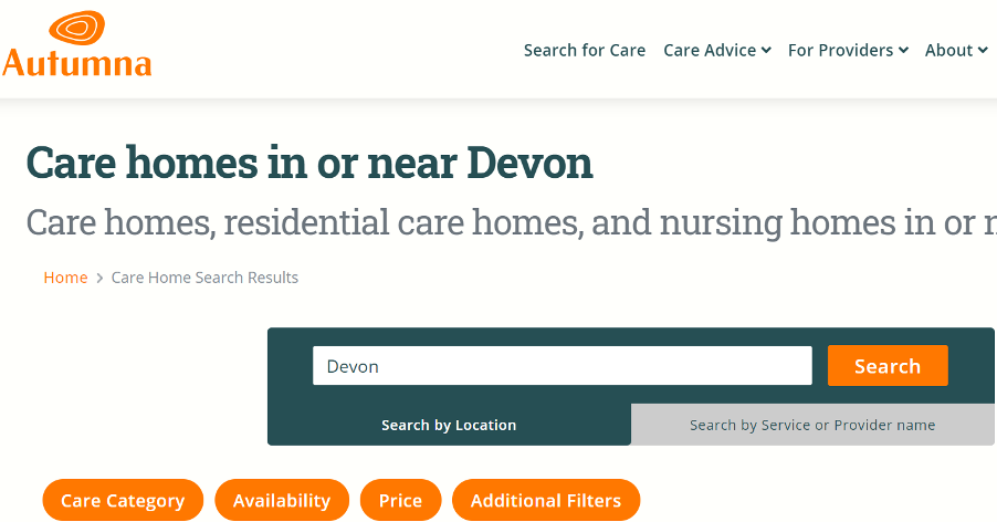 How much do care homes in Devon cost?