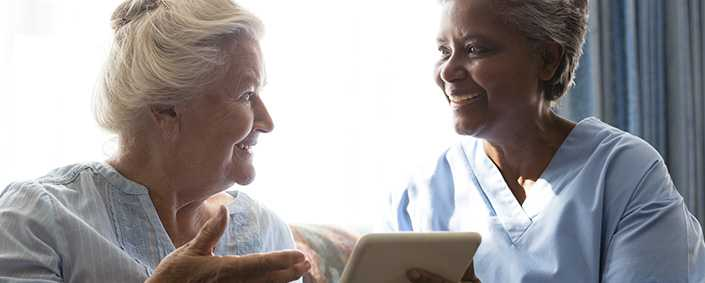Family portals allow relatives to stay digitally in touch with their elderly relatives